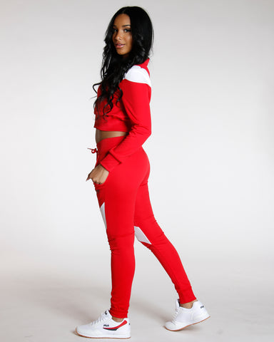 Red COLOR BLOCK LOVE JOGGER