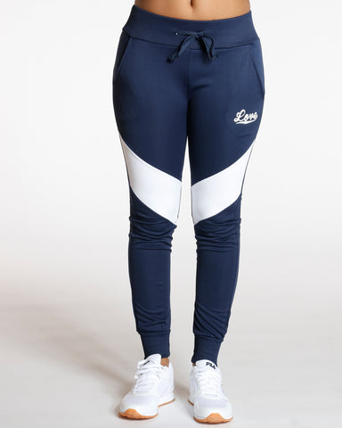 Navy Color Block Love Jogger