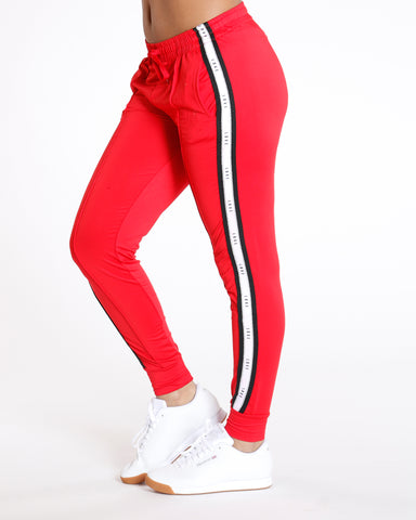 Red Yummy Side Trim Love Legging