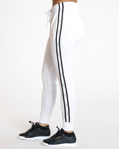 White Yummy Side Trim Love Legging