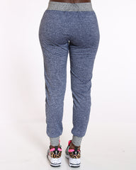VIM VIXEN Marsha Yummy Love Side Trim Jogger - Blue - ShopVimVixen.com