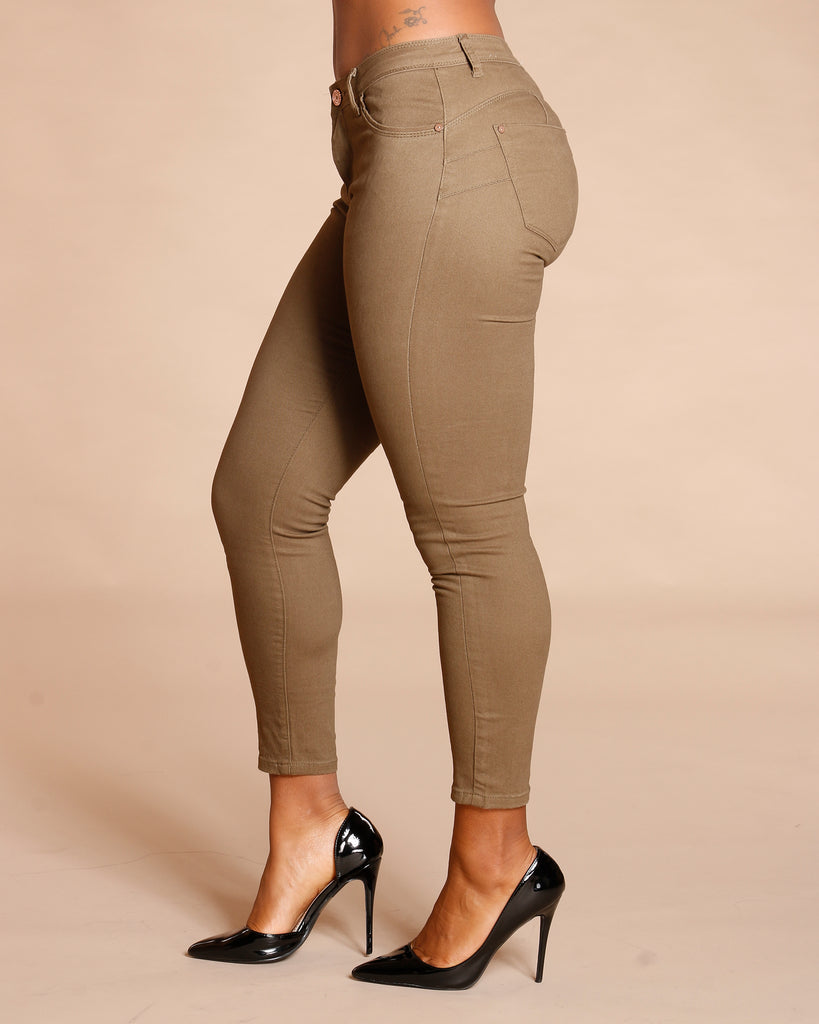 Olive Fashion Twill Pants