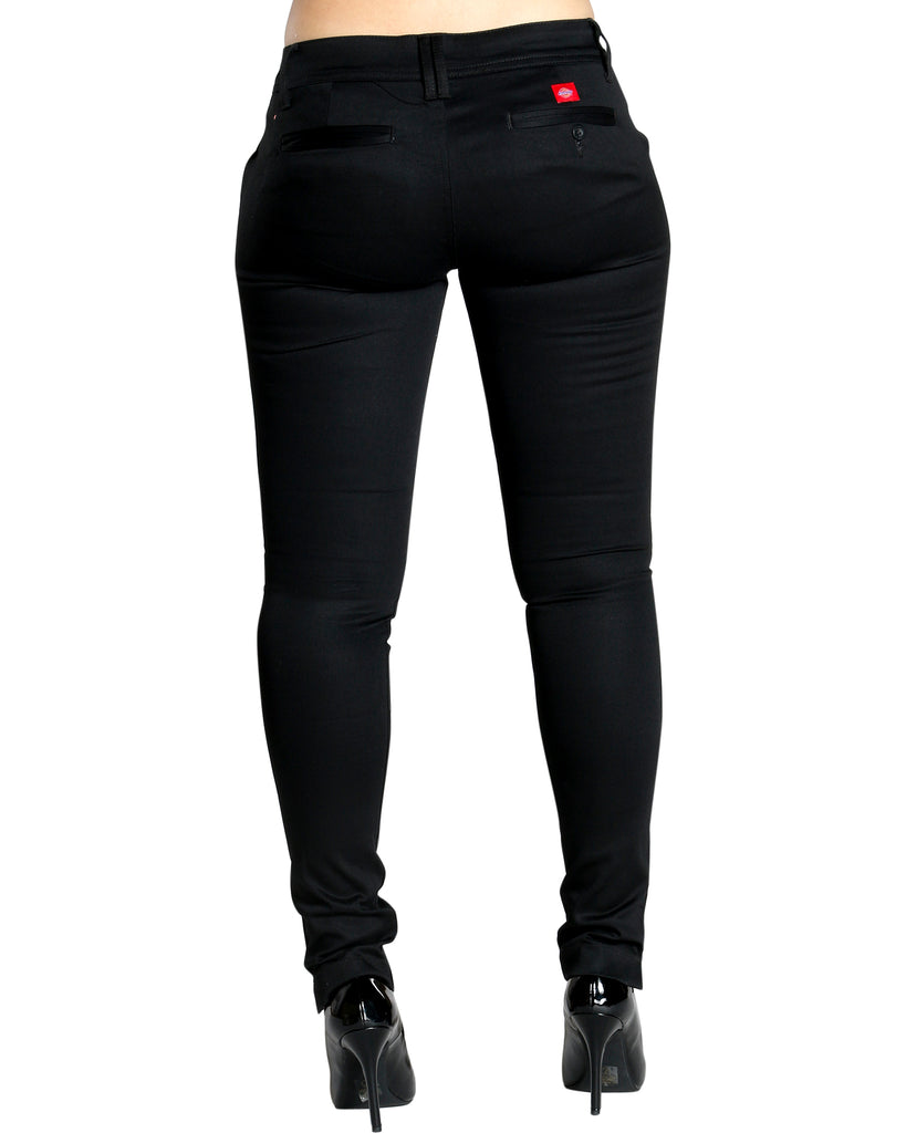 DICKIES Jessica Four Pockets Super Skinny Pant - Black - ShopVimVixen.com