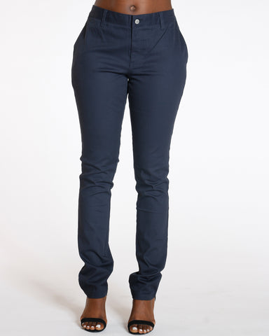 One Button Skinny Pants Navy