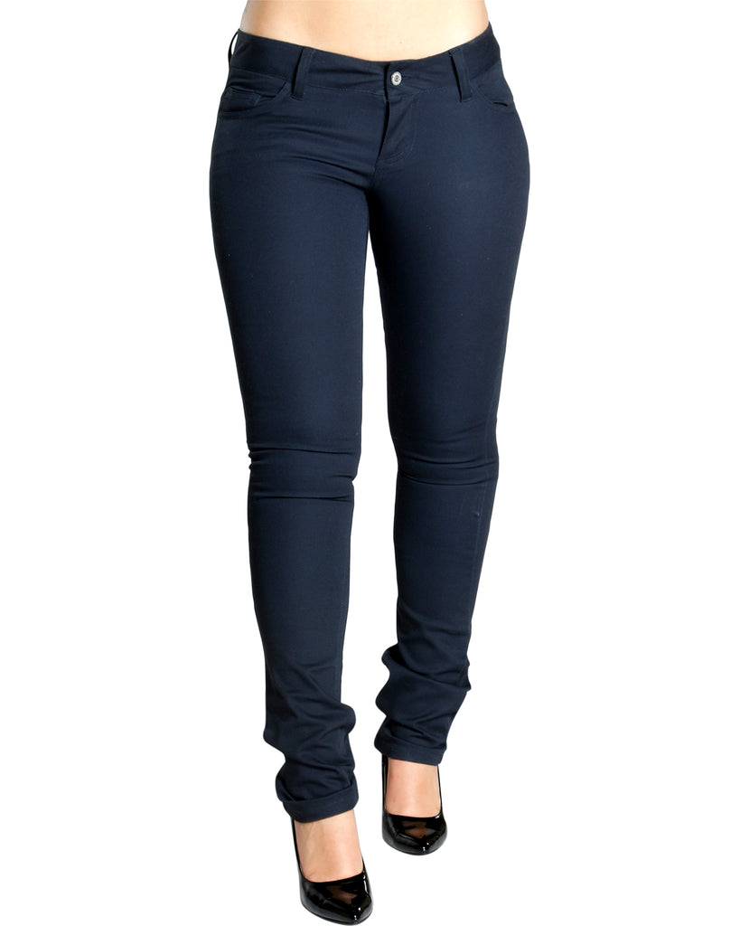Back To School Twill Skinny Pants