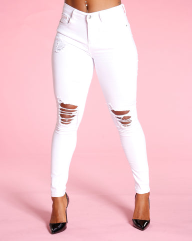 Ripped Jeans - White
