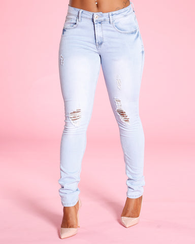 Ripped Jeans - Light Blue