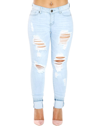 AMBERLY RIPPED JEANS