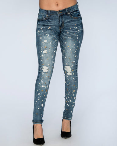PEARLS AND RHINESTONES JEANS