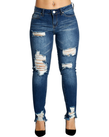 MONSE RIPPED MID RISE JEANS