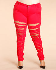 VIM VIXEN Distressed Ripped Jean - ShopVimVixen.com