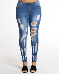 All Over Ripped Jean