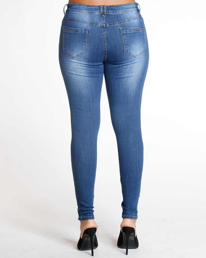REMY MA BY VIM VIXEN All Over Ripped Jean - Dark Blue - ShopVimVixen.com