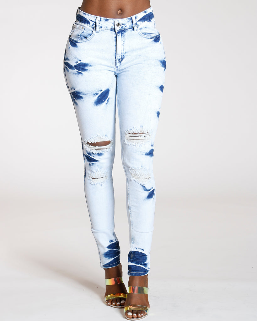 Ripped Bleach Jean