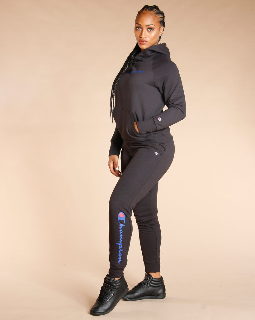 CHAMPION Powerblend Fleece Jogger - Black - ShopVimVixen.com