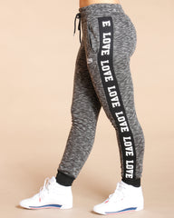 Side Love Melange Jogger (Available In 3 Colors)