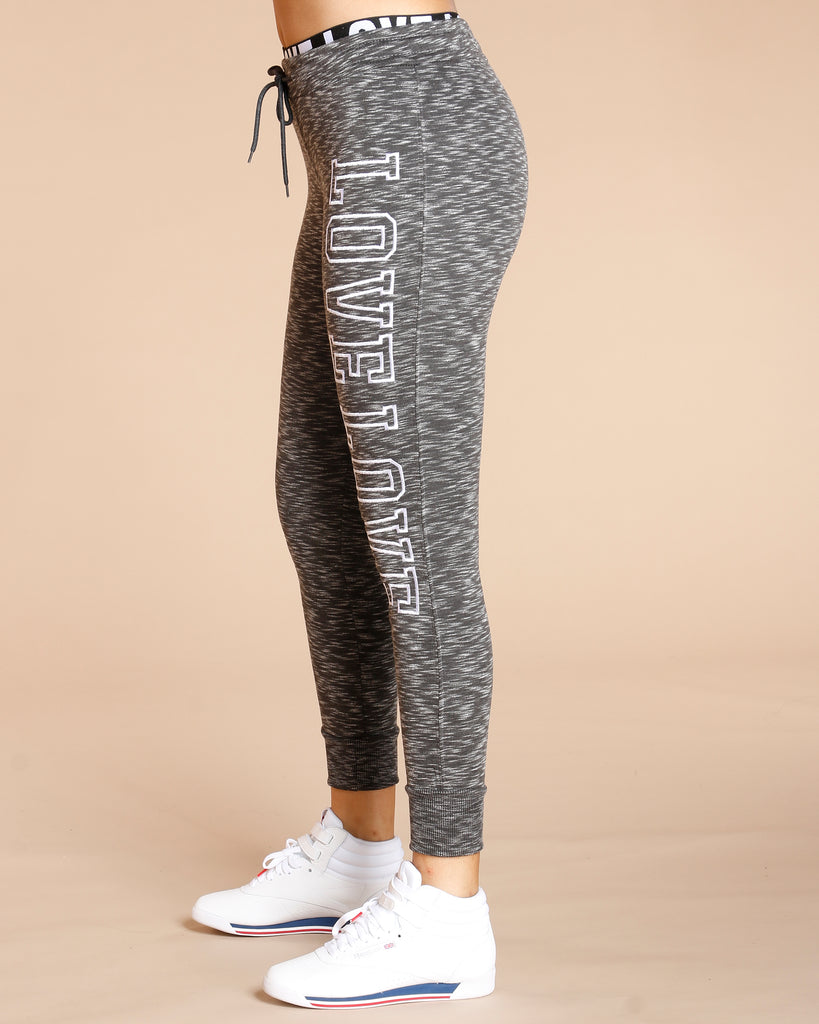 Love Fleece Melange Jogger (Available In 3 Colors)