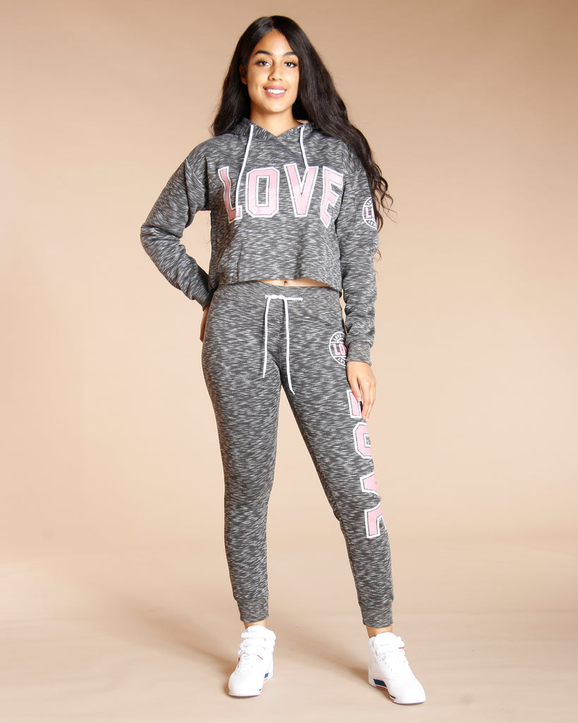 MELANGE LOVE FLEECE (AVAILABLE IN 3 COLORS)