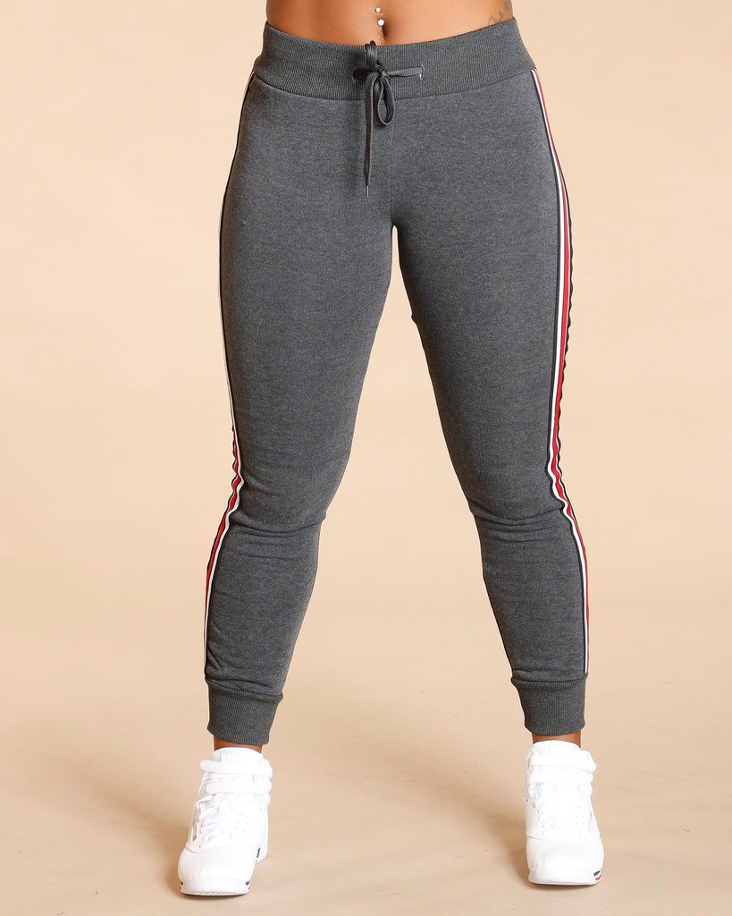 Side Piping Fleece Jogger (Available In 5 Colors)