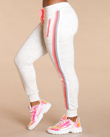 Ember Multi Color Side Stripe Jogger