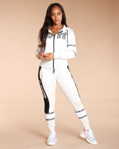 Melange Love Fleece Jogger