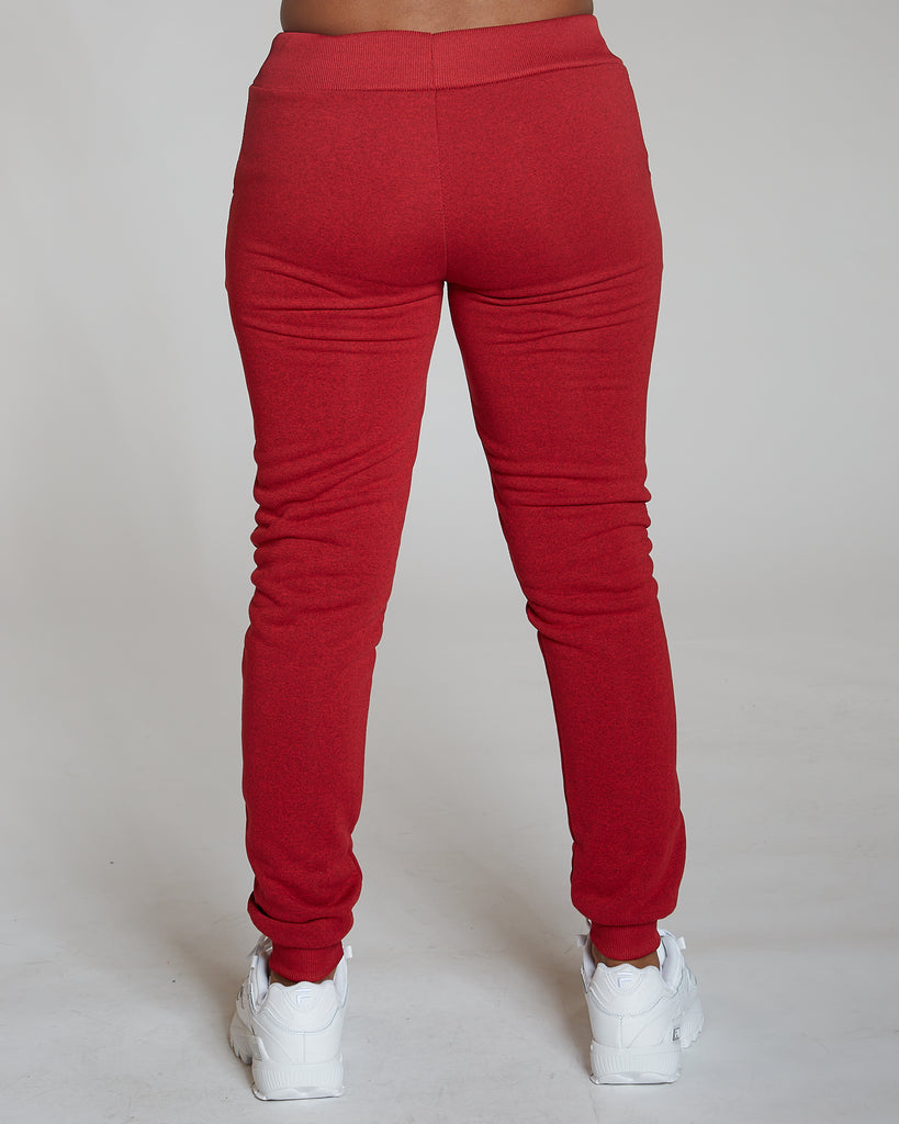 VIM VIXEN Red Marbled Fleece Jogger - ShopVimVixen.com