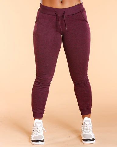 Plum Marble Fleece Jogger