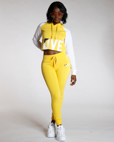 Yellow Fleece Jogger