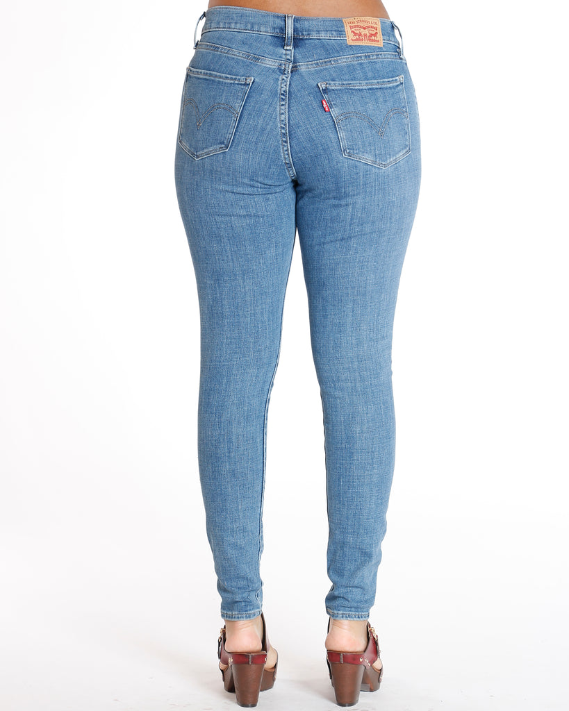 Curvy Blue Star Way Skinny Jean - Medium Denim