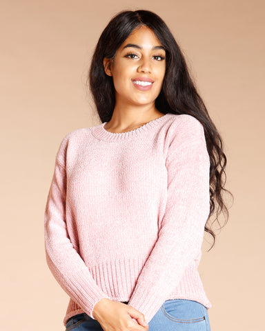 Chenille Crew Neck Sweater (Available In 3 Colors)