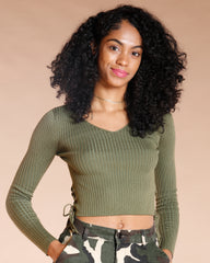 Cropped Size Lace Sweater (Available In 6 Colors)
