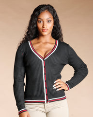PIPING CONTRAST CARDIGAN (AVAILABLE IN 7 COLORS)