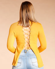 Lace Up Back Fashion Tops (Available In 5 Colors)