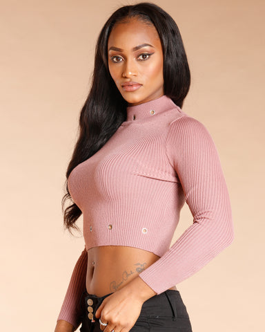 Grommet Crop Top