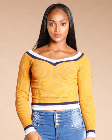Stripe Taping Sweater