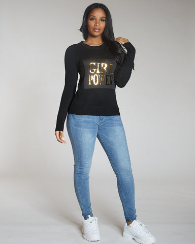 Vanesa Black Girl Power Sweater