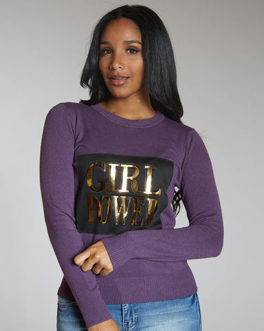 Vanesa Purple Girl Power Sweater