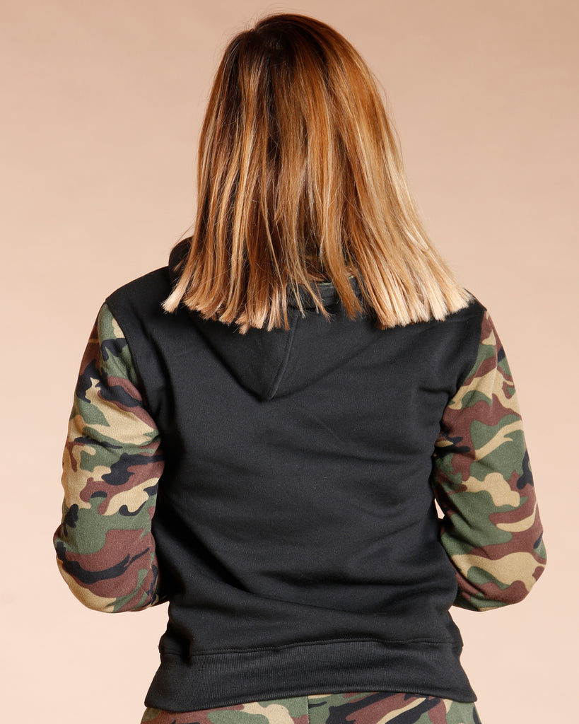 VIM VIXEN Fleece Top - Camo - ShopVimVixen.com