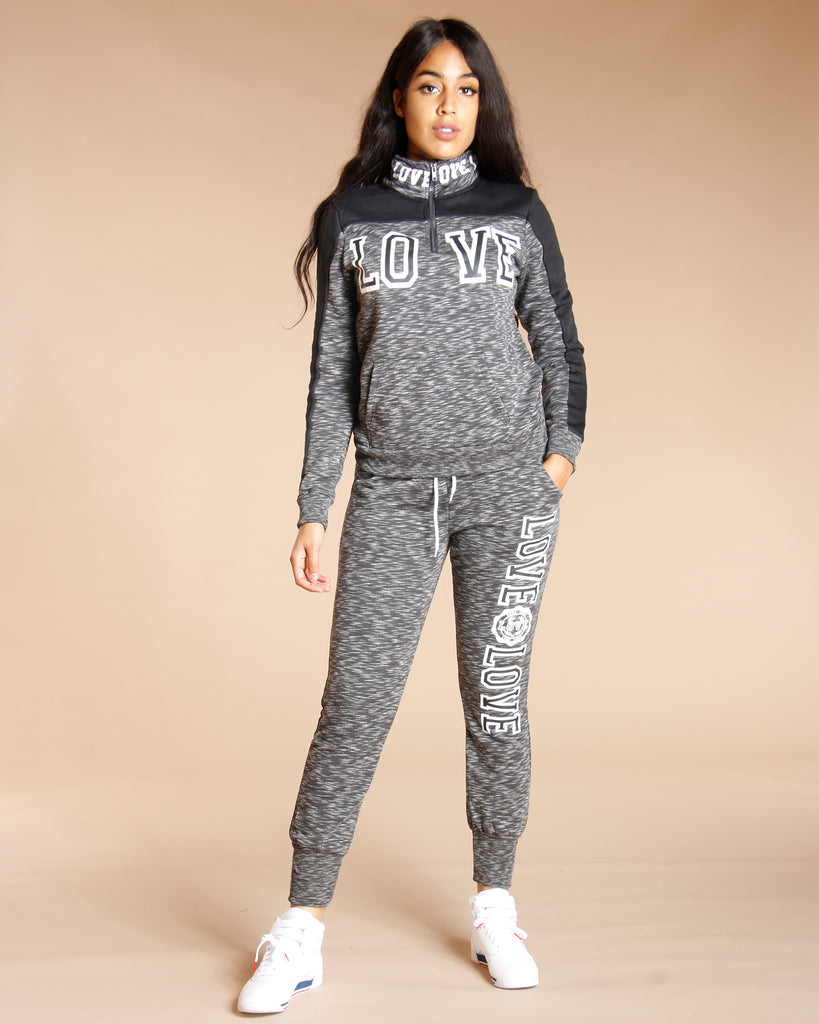 MELANGE LOVE FLEECE JOGGER (AVAILABLE IN 3 COLORS)