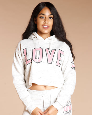 Melange Cropped Hoodie (Available In 3 Colors)