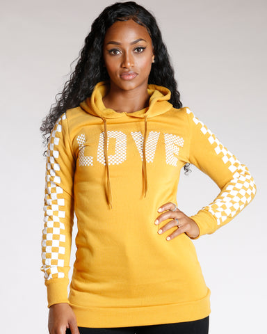 CHECKERBOARD LOVE TUNIC (AVAILABLE IN 5 COLORS)