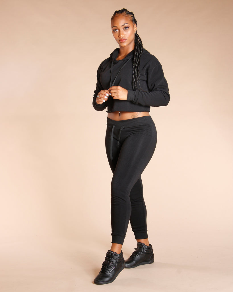 Crop Fleece Hoodie (Available In 5 Colors)