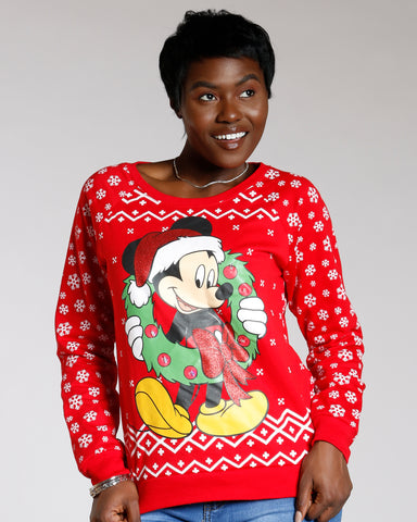 Mickey Mouse Light Up Ugly Christmas Sweater