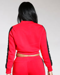 VIM VIXEN Full Zip Love Fleece Top - Red - ShopVimVixen.com