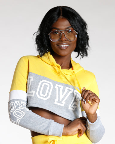 Color Block Love Hoodie