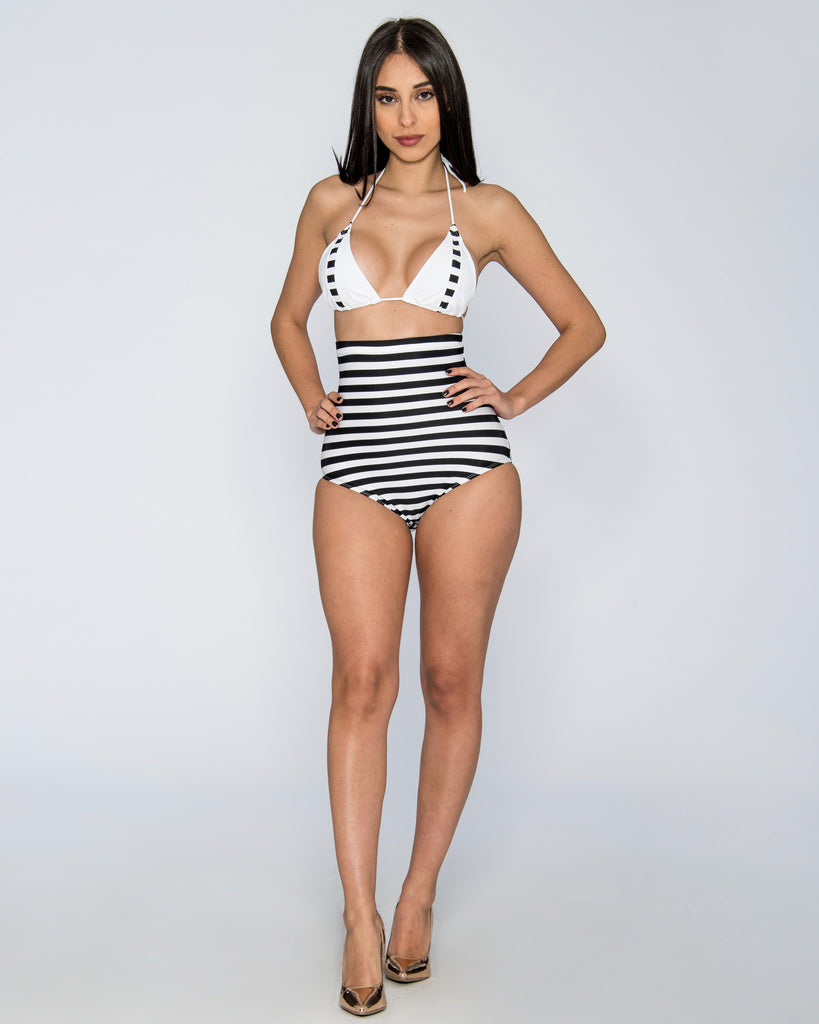 Black Pin Up High Waist Bikini