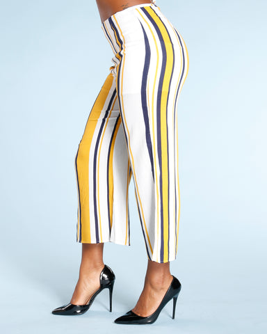 Stripe Palazzo Pants (Available In 2 Colors)