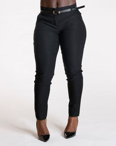 Stretch Belted Pants (Available In 3 Colors)