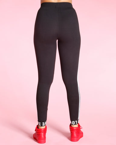 SIDE STRIPE LOVE CUFF LEGGINS (AVAILABLE IN 3 COLORS)