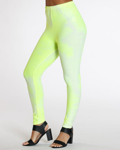 Dalary Yellow Neon Tye Dye Legging